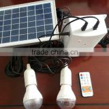 5W portable solar lighting system with FM radio music blue teeth/usb rejector/phone charge