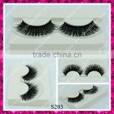 Fashion new false eyelash hand made synthetic double layer premiun lashes supplier