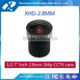 "2016 hot new products camera hd MegaPixel 1/2.7"" f2.0 2.8mm m12 cctv lens for security cameras"