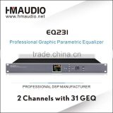 EQ231 Digital Equalizer with high performance 24 bit A / D & D / A converter