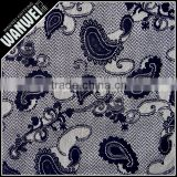 new black foot-print style design fabric and textile in knitted fabric hot selling nylon spandex fabrics for wedding dress 4019