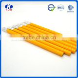 hot sale 13cm yellow paint barrel HB pencil with eraser