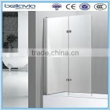 bathroom shower screen 5,6mm CLEAR ,6582C hinge shower enclosure bathtub shower panel
