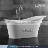Composite stone resin bath tub ,stone finishes