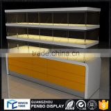 Modern style reasonable price small order accept custom design MDF bakery display couter