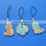 metal charms for mobile phone strap, cellphone pendant straps,cute enamel phone straps