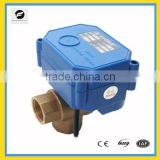 TF-CWX-15Q/N electric ball valve motorized automatic control 3-way DC3/6V DC9/24V 3wires brass/ss304