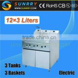 Best seller 12 L stainless steel electric used pressure henny penny deep fryer for automatic fried chicken