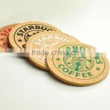 bulk wooden tea Mats/wholesale round beer drink cup Pads/custom round cardboard coasters