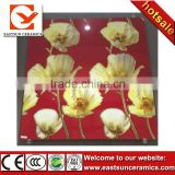 2016 red flower micro crystal polished porcelain floor tile,polished crystal tile,floor tiles design pictures