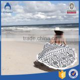 Wholesale custom turkish fabric printed cotton large round beach towel