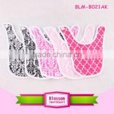 China baby bib manufacturer 2016 new arrival cotton bandana baby bib cute silicone baby bib