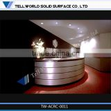 Elgent custom made black round office reception desk