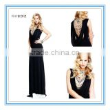 Latest Black Crystals Sheath Sexy Floor-length African Evening Dresses(EVTA-1004)