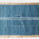 RTHDM-4 Multi Uses Indian Ethnic Cheap Handmade Jaipur Traditional Cotton Jute Material Home Decor Door Mats Manufacturers