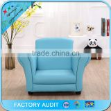 high class furniture blue pvc child sofa with custom color