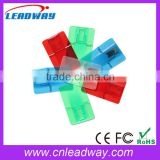 Colorful Visa Card USB 2.0, Plastic Transparent USB Card