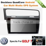 1DIN ANDROID CAR SMART MEDIA DVD PLAYER WITH GPS NAVIGATION SYSTEM HD TOCH SCREEN FOR VW GOLF 7