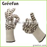 2016 Newest Product High Quality Long Barbecue Grill Gloves , Wholesale BBQ Grilling Smoking Use As Hot Oven Mitts Pot Holders