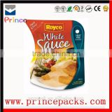 Special shape packaging for sauce packaging, tomato sauce packaging, stand up pouch with zipper for ketchup
