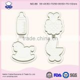 Cockhorse Cake Fondant Tool Feeding Bottle Cookie Biscuit Cutter Baby Stroller Plunger Cutter