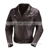 Modello Classic Brown Leather Motorcycle Jacket for Men