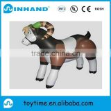hot sale customised funny pvc inflatable diary cow/leopard, animal toy, inflatable hopping animal jumping toys