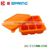 Food grade silicone food freezer tray silicone ice tube storage boxes with cap