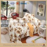 Manufactory wholesale 100%polyester home textile organic swaddle blanket bed set duvet cover
