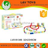 Colored donminoes kids plastic intelligence toys