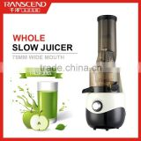 CE ROHS LFGB CB approved Professional kitchen appliance, home fruit juicer, big mouth wide neck slow juicer extractor