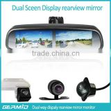 Carmera car monitor vehicle rear view mirror monitor China suppler four back up camera dispaly