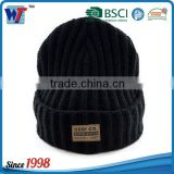beautiful laine sports thread for men black knitted hat windproof
