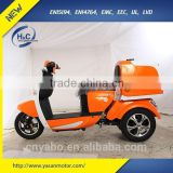 Adult electric 3 wheel scooters, Three wheel electric scooter with pizza delivery box