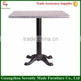 Wholesale bistro wooden coffee table with iron table base