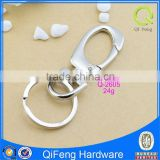 Q-2605 key ring swivel hook,silver snap hook, bag parts hardware