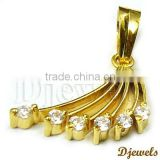 Diamond Pendants, Banana Shape pendants, diamond Jewelry