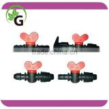 Plastic irrigation mini Valves for hose Layflat drip tape, drip irrigation valve for drip tape