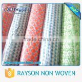 Reasonable Price Colorful Soft Touched Protect Table Nonwoven Airlaid Fabric Square Tablecloth in roll