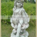 Girl Polyresin Garden Angle Cherubs Statue Decoration Little Angel Statue
