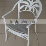 outdoor furniture cast aluminum chair/garden wicker chair/cast aluminum chair/coconut chair