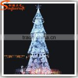 Chinese factory hot sale giant artificial led christmas tree ornament decoration colorful lighting tree outdoor