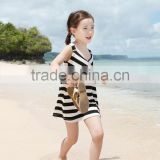 New style sweet baby girl frocks for 12 years girls fashion design kids striped summer dress