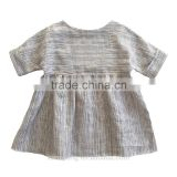 High quality kids clothing frock design girls dress names with pictures children clothes summer linen dress