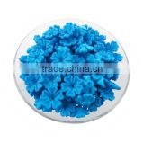 Blue matte flower acrylic beads charm custom flower plastic beads diy flower beads for jewelry