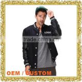 Custom embroidery logo letterman jacket baseball garment men's v neck baseball jerseys uniforms