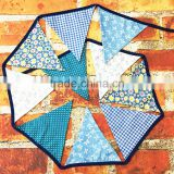 2016 customized cotton triangle pennant decoration party bunting flag