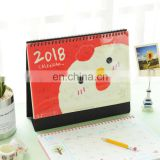 Custom colorful animal printing table calendar/desk calendar/colorful calendars printing