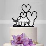 party cake decoration insert card acrylic wedding cake topper