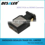 2014 New hot Mini VGA 2 HDMI Converter ,Factory Supply